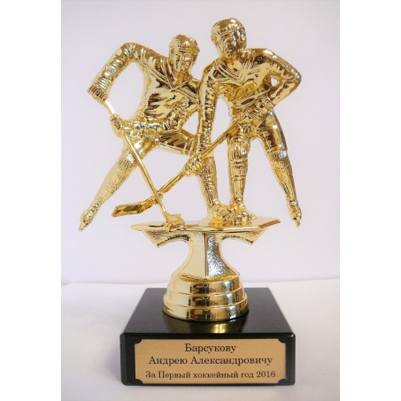 Пример гравировки *Статуэтка наградная хоккей*