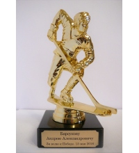 Пример гравировки Хоккеист